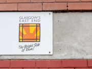 Branding for Dalmarnock late 1990's - on a building awaiting demolition